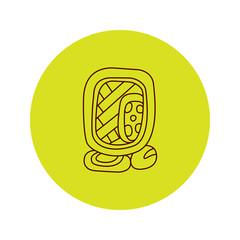 Vector maya icon tattoo