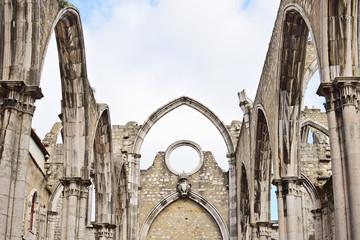 Igreja do Carmo in Lisbon in  Portugal, EU