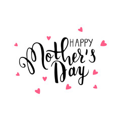 Happy Mothers's Day lettering.