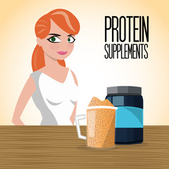 Icon of Protein Supplement design, vector illustration