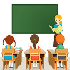Teacher Teaching Students In Classroom, World Book Day, Back to school, Educational, Stationery, Book, Children, School Supplies, Educational Subject, Objects, Icons