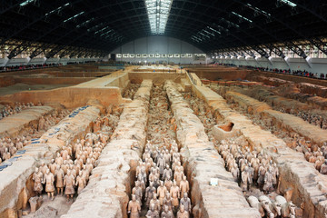The famous Terracotta Army, the Qin Shi Huang Mausoleum