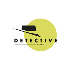 Vector flat simple detective logo.