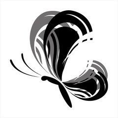 Abstract black butterfly