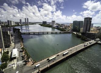 Aerial View of Recife, Pernambuco, Brazil