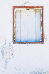 Old window in Mertola, Portugal. Colors of Portugal Series