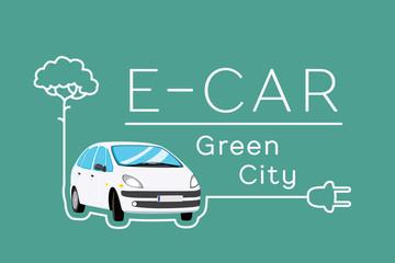 Electric Car Banner