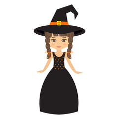 witch girl in long dress