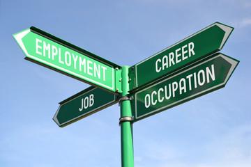 Employment, career, job, occupation signpost