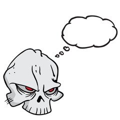 skull with thought bubble