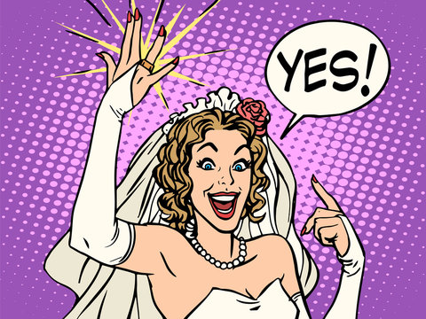 bride wedding ring happiness