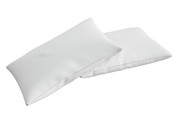 two white pillows, 3D rendering