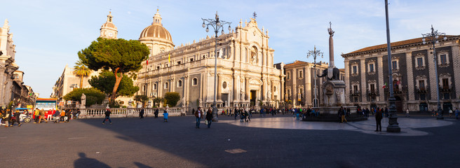 Staande foto Monument View of Catania cathedral in Sicily