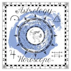 Astrology set for zodiac sign Sagittarius or Archer