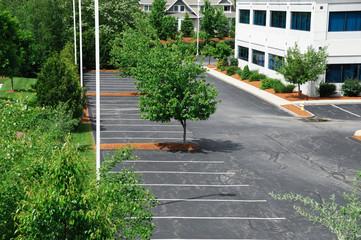 empty parking area in industrial district
