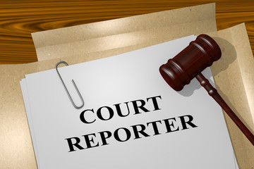 Court Reporter legal concept