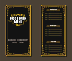 Restaurant Fast Foods menu burger on chalkboard vector format ep