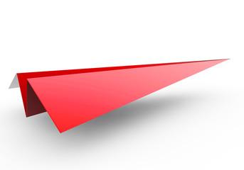 3D Papierflugzeug rot