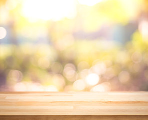 Fresh Spring & Summer with sunshine,wood table top