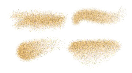 Sand vector elements. Sand stains isolated on white background.