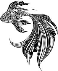 Fish, monochrome I