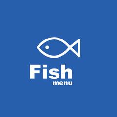 Fish menu - design template