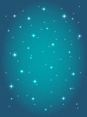 abstract background with night sky and stars. vector