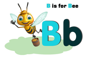 Bee with alphabte