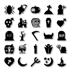 Night Horror icon set