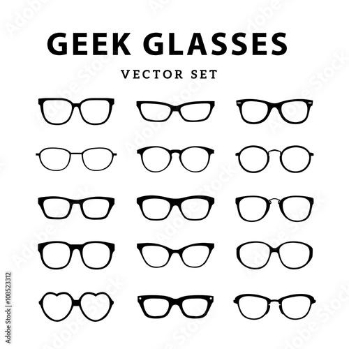 Set of glasses. Vector illustration on white background. Glasses ...