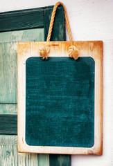old empty black board
