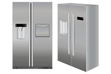 Fridge. Kitchen appliance.