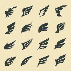 Wings Collection ,Wing design elements,wing logo,Vector illustration