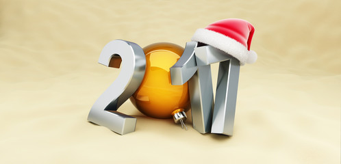 Christmas 2017 New Year holidays on the beach