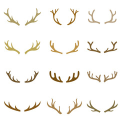 collection set of deer head