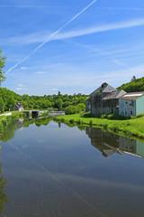 Kanal Nantes-Brest, Finistère, Bretagne, Frankreich