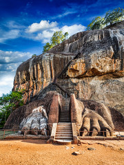 Lion paws pathway on Sigiriya rock, Sri Lanka