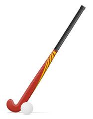 field hockey stick and ball vector illustration
