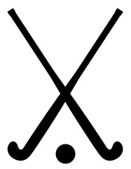 field hockey equipment black outline silhouette vector illustrat