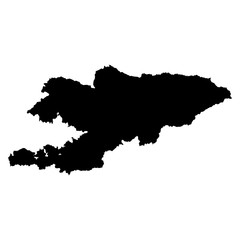 Kyrgyzstan black map on white background vector