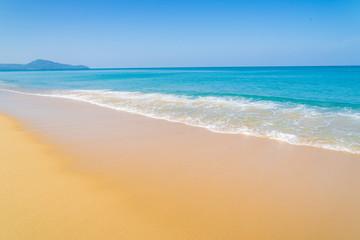 wave on a sea beach