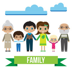 Big happy family portrait in bright colors. Family fun. Family. Happy family gesturing with cheerful smile.