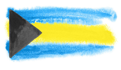 Bahamas flag illustration