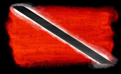 Trinidad and Tobago flag illustration