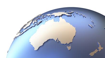 Australia on metallic Earth