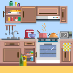 Kitchen interior vector for your ideas
