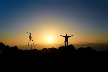 Cameraman on a mountain