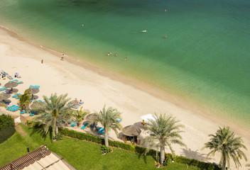 palm beach and yellow sand beach in united arab emirate