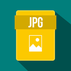 JPG file icon, flat style