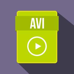 AVI file icon, flat style